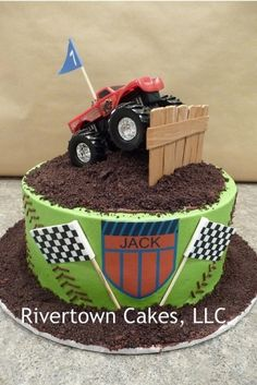 monster truck cake have to remember this for the boys birthday