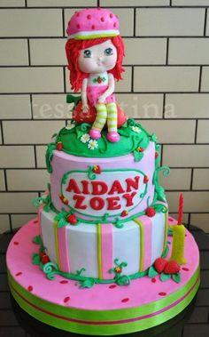 Strawberry Shortcake cake - by tessatinacakes @ CakesDecor.com - cake decorating website