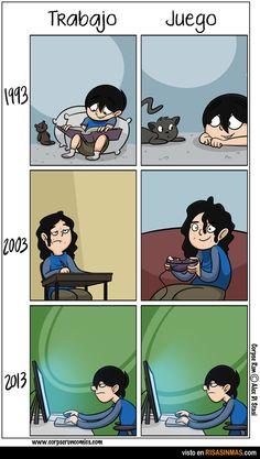 Trabajo y juego antes y ahora