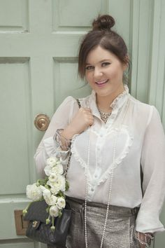LOVE this blouse! - Glitter Girl: Briony of A Girl, A Style   Photographed by Ellie Smith