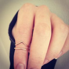 above knuckle midi ring.
