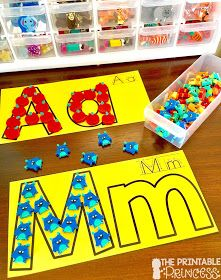 Letter recognition is an important component in PreK and Kindergarten classrooms. Stop by and pick up a FREE letter assessment tool. Plus you'll also find in this post loads of ideas for alphabet practice. Easy and practical activities to help teach your Preschool Literacy, Preschool Letters, Letter Activities, Kindergarten Activities, Letter Identification Activities, Educational Activities For Preschoolers, Kindergarten Classroom, Teaching The Alphabet, Alphabet Games