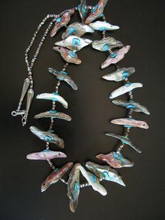 Sara Leekya Shell Bird Necklace