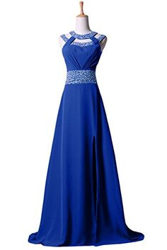 Sunvary Sexy Chiffon Evening Prom Gowns Long Formal Bridesmaid Dresses for Mother of the Bride Gowns - US Size 2- Royal Blue Sunvary http://www.amazon.com/dp/B00NOM2QBW/ref=cm_sw_r_pi_dp_E92Dub0WVES6C