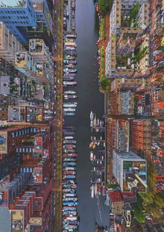Westerdok Disctrict, Amsterdam, Netherlands from a Bird's-Eye View by Air Pano. l #photography #aerial
