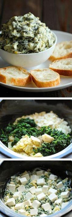 ღღ Simply throw everything in the crockpot for the easiest, most effortless spinach and artichoke dip – it doesn't get easier than that!