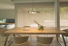 Lámpara colgante madera LED PAULINE ambiente 3