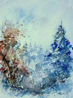 "Saatchi Online Artist Pol Ledent; Painting, ""watercolor 010307"" #art"