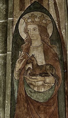 serf- in medieval Europe, a peasant legally bound to the land who had to provide labor services, pay rents, and be subject to the lord's control Medieval World, Medieval Art, Religious Icons, Religious Art, Clare Of Assisi, St Clare's, Medieval Paintings, Unicorn Art, Medieval Manuscript