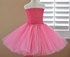 Extra Full Big Knot Knee Length Tutu Dress Cotton candy by 1583Designs pink flower girl birthday event special occasion any colors