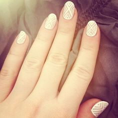 My nailsies this week! @orlynails pure porcelain...