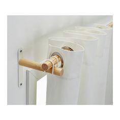 SANNOLIKT Gardinenstangen-Set IKEA Lässt sich mit dem beigepackten Gummiring superleicht befestigen.
