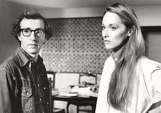 Woody Allen & Meryl Streep on the set of Manhattan, 1979