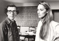 Woody Allen & Meryl Streepon the set of Manhattan,1979