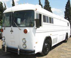 Vintage Crown Coach School Bus w Cummins Pancake Diesel Engine   eBay