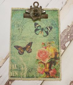 Butterfly Fabric Clipboard
