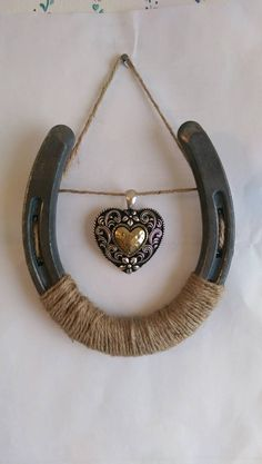 Western Heart Horseshoe Wall Decor by LittleMoments1994 on Etsy