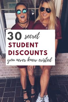 31 Secret Student Discounts You Absolutely Need To Know Tons of secret student d. 31 Secret Student Discounts You Absolutely Need To Know Tons of se College Life Hacks, College Years, School Hacks, College Girls, Dorm Life, School Tips, College Girl Style, Money For College, Budgeting For College Students