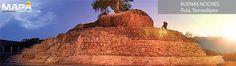 #BuenasNoches: Imágen de #Tula Pueblo Mágico en #Tamaulipas en la Sierra Madre Oriental, se encuentra la Pirámide El Cuitzillo, perteneciente a la cultura huasteca que data del año 640.