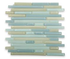 Tao Sea Wave Glass Tile has that beautiful blend of gray and medium blue shade glass in frosted and polished finishes creating a sleek and attractive design to any room.  These glass tiles will give a luminescent quality to any bathroom, kitchen or pool installation.