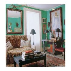 Room Of The Day Gorgeous Wall Color Love Leopard In Here With Rug