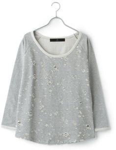 Broken sweat shirt  / ShopStyle: Beauty United Arrowsビューティーアンドユース ユナイテッドアローズ  WOMENS by ブロークンスウェット GREY
