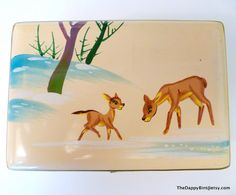 Vintage Fawn and Doe Jewelry Box  Unbelievably by TheDappyBint, $37.50