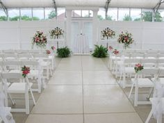 Ceremony setup at The Atrium, Butler, PA