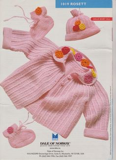 Adorable jumper and sweater pattern.  It;s shown in pink but in a different colour would work for a boy as well - free pattern