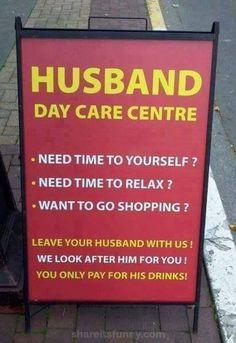 Husband Day Care Center - https://shareitsfunny.com/husband-day-care-center/ - Funny Pictures on  Share Its Funny  #husbanddaycarecenter