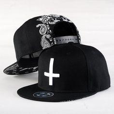 be177f11cbf Brand Street Dance Cool Hip Hop Caps Embroidery Cross Snapback Snapbac.  Black Snapback HatsSnapback CapSports CapsCheap Baseball ...