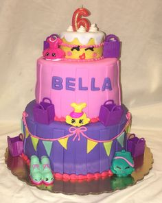 Shopkins wishes birthday cake by Inphinity Designs. Please visit my Facebook page Inphinity Designs by Kandy Lloyd to order. Located in San Antonio, Tx.