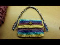 #Crochet Ruffled Handbag Purse #TUTORIAL DIY Crochet handbags FREE - YouTube