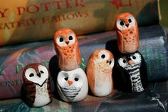 Clay owls from Harry Potter. Pre-make owl shapes with Crayola Model Magic and let your teens paint as they like with Sharpie poster paint markers