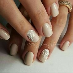 Hey there lovers of nail art! In this post we are going to share with you some Magnificent Nail Art Designs that are going to catch your eye and that you will want to copy for sure. Nail art is gaining more… Read more › Beige Nails, Neutral Nails, Cute Nails, Pretty Nails, My Nails, Bridal Nails, Wedding Nails, Simple Gel Nails, Gel Nagel Design