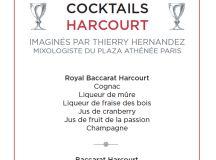 BACCARAT lance un nouveau cocktail dans son verre iconique signé par Thierry Hernandez du Plaza Athénée