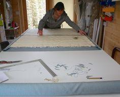 Thermal Blinds, Roman Blinds, Blue Stripes, Furniture, Home Decor, Decoration Home, Room Decor, Home Furnishings, Blue Streaks