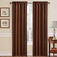 Stripe Ensemble Single Curtain Panel