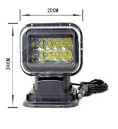 """Remote Base"" Work, Spot, Flood Light LED 50W  Operating Voltage: 10-30V DC  Waterproof rating: IP 67  10*5w high intensity Cree LEDs  Luminous Flux 3750lm  Color Temperature: 6000K  Material: Die cast aluminum housing  Lens material: PC  Beam: 30 degree  Expected Life 30000+ hours  Certificates: CE RoHs"