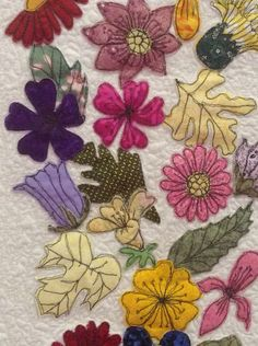 fussy cut blomster
