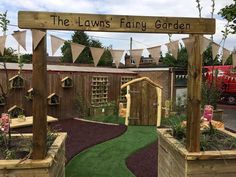 The Lawns Fairy Garden - Cool Canvas Eyfs Outdoor Area, Natural Play Spaces, Outdoor Play Equipment, Mud Kitchen, Outdoor Classroom, New Builds, Pergola, New Homes, Outdoor Structures