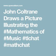 John Coltrane Draws a Picture Illustrating the Mathematics of Music Math Sites, Pictures To Draw, Mathematics, School Stuff, Physics, Drawings, Music, Illustration, Reading