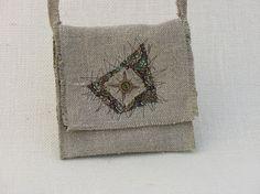 Small hemp messenger bag - perfect for passports!