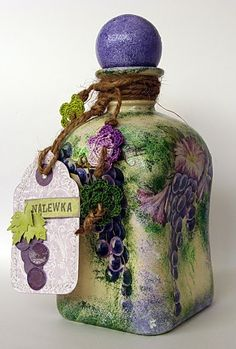 Gorgeous hand painted bottle