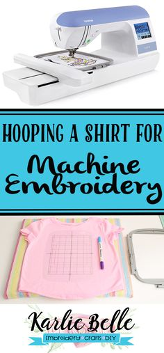 How to hoop a toddler or child's shirt for machine embroidery. Tips on hooping a shirt including what stabilizer to use and how to keep extra fabric out of the way. Babylock Embroidery Machine, Used Embroidery Machines, Brother Embroidery Machine, Machine Embroidery Projects, Embroidery Software, Embroidery Monogram, Applique Embroidery Designs, Machine Embroidery Applique, Free Machine Embroidery Designs