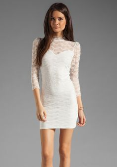 DOLCE VITA Cady Lace Dress in White