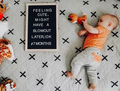🦀HAVE YOU EVER SEEN ANYTHING SO CUTE?!🧡😍🦀 . Happy 7 Months to this adorable lil crab! He hardly ever pinches and is sweet as can be!😁 He… 7 Months, Have You Ever, Baby Month By Month, Letter Board, Babies, Feelings, Sweet, Happy, Cute