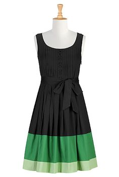 Tux front poplin A-line dress...love that you can customize, adding sleeves, length, change neckline