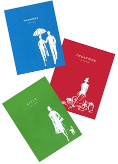 Kate Spade Etiquette Books, borrowed sentiments from one Ms Emily Post