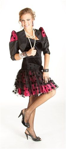80's Uptown Girl (Fuchsia) Costumes  MSRP Price: $69.99  $69.99  Description:  The 80's Uptown Girl(Fuchsia)Costumes are designer 80's clothes originals. An 80s Dress that is totally eighties fashion but is also elegant. It is also popular for 80's proms or aany Costume Party. 80's costume comes in Small (1-5), Medium (7-9), & Large (11-13).